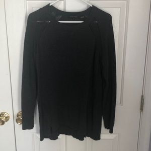 Charcoal grey knit sweater